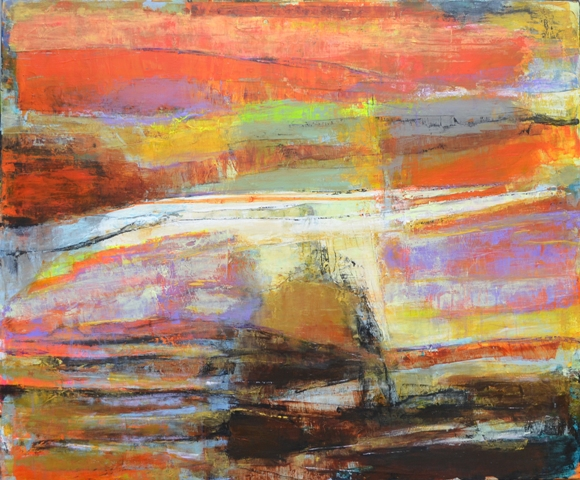 Red dawn 100x120 cm